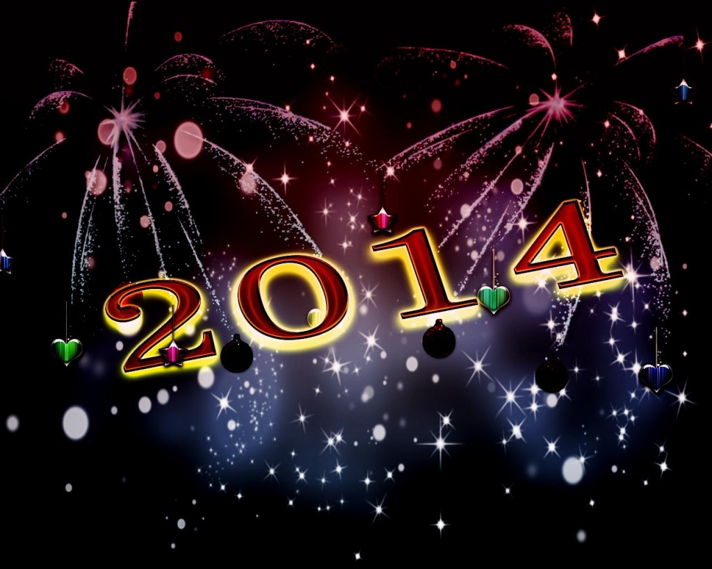 2014 New Year's celebration concept