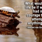 What would life be like if we had no courage to attempt anything?