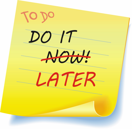 do it later post it note