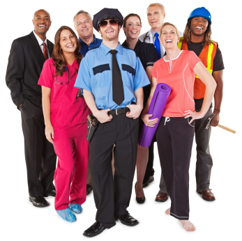 Group of people of diferent professions